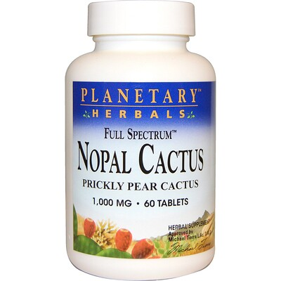 Nopal Cactus, Full Spectrum, Prickly Pear 1,000 mg, 60 Tablets