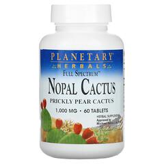 Planetary Herbals, Nopal Cactus, Full Spectrum, Prickly Pear Cactus, 1,000 mg, 60 Tablets