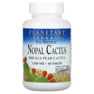 Planetary Herbals, Full Spectrum Nopal Cactus, 1,000 mg, 60 Tablets