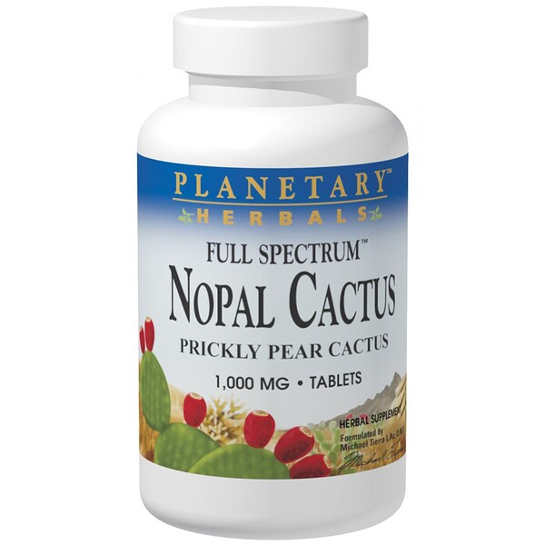 Planetary Herbals, Nopal Cactus, Full Spectrum, Prickly Pear Cactus, 1,000 mg, 120 Tablets