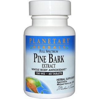 Planetary Herbals, Full Spectrum, Pine Bark Extract, 150 mg, 60 Tablets