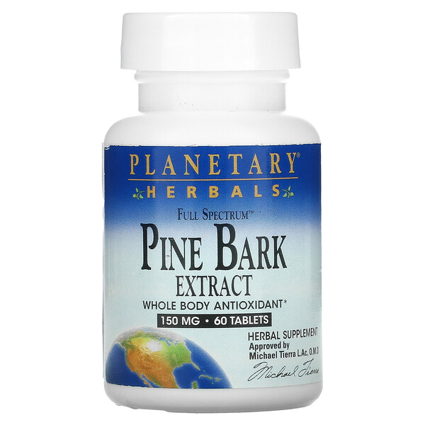 Planetary Herbals, Full Spectrum Pine Bark Extract, 150 mg, 60 Tablets