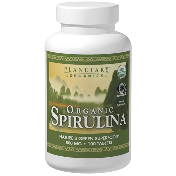 Planetary Herbals, Organics, Organic Spirulina, 500 mg, 200 Tablets (Discontinued Item)
