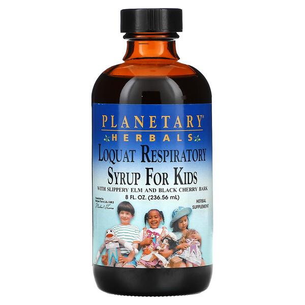 Planetary Herbals, Xarope respiratório de Nespereira para crianças, 8 fl oz 236.56 (ml)