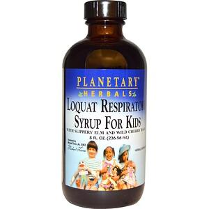 Планетари Хербалс, Loquat Respiratory Syrup for Kids, 8 fl oz (236.56 ml) отзывы покупателей