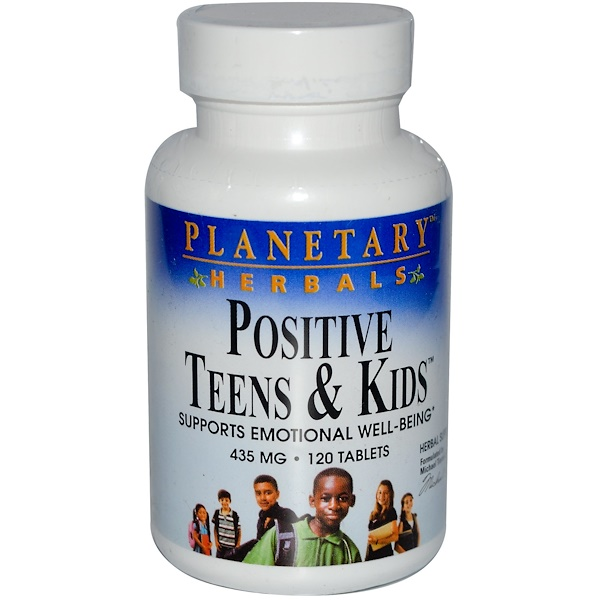 Planetary Herbals, Positive Teens & Kids, 435 mg, 120 Tablets (Discontinued Item)