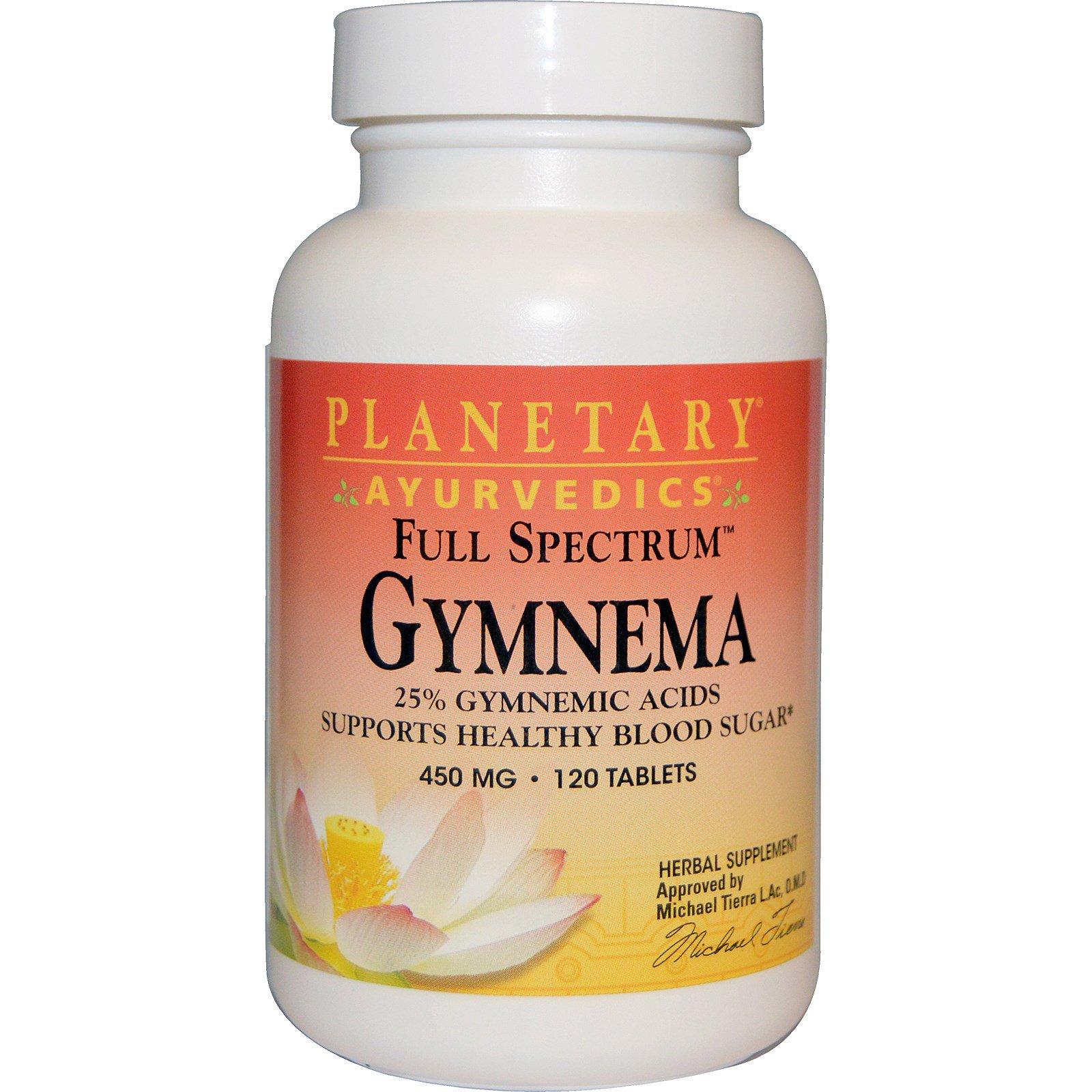 Planetary Herbals, Аюрведа, Полный спектр, Джимнема, 450 мг, 120 таблеток