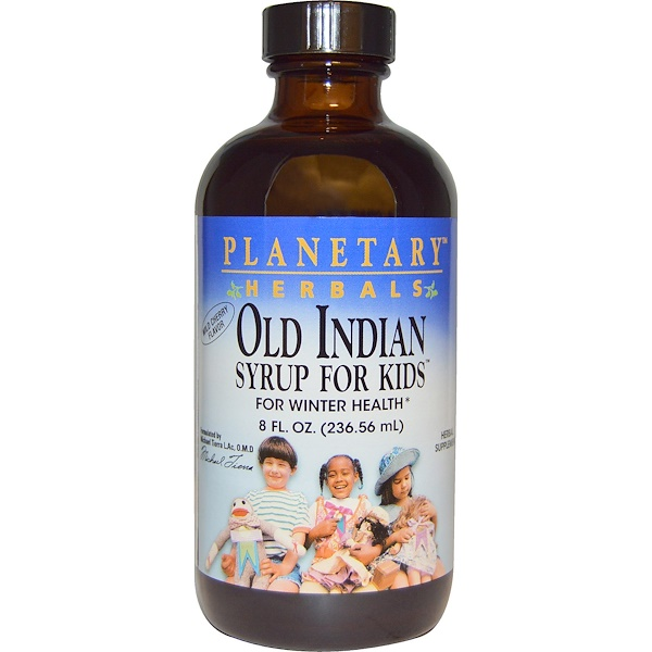 Planetary Herbals, Old Indian Syrup for Kids, Wild Cherry Flavor, 8 fl oz (236.56 ml)