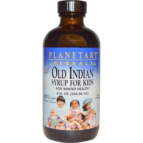 Planetary Herbals, Old Indian Syrup for Kids, Wild Cherry Flavor, 8 fl oz (236.56 ml) (Discontinued Item)