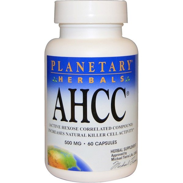Planetary Herbals, AHCC (Active Hexose Correlated  Compound), 500 mg, 60 Capsules