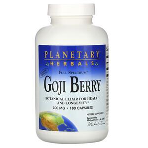 Планетари Хербалс, Full Spectrum Goji Berry, 700 mg, 180 Capsules отзывы