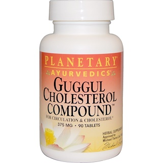 Planetary Herbals, Guggul Cholesterol Compound, 375 mg, 90 Tablets