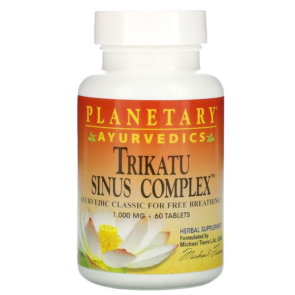 Planetary Herbals, Ayurvedics, Trikatu Sinus Complex, 1,000 mg, 60 Tablets (Discontinued Item)