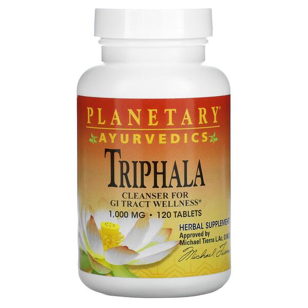 Ayurvedics, Triphala, 1,000 mg, 120 Tablets
