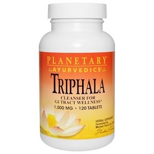 Планетари Хербалс, Ayurvedics, Triphala, 1,000 mg, 120 Tablets отзывы покупателей