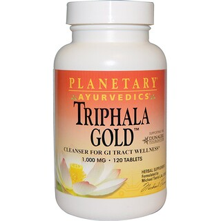 Planetary Herbals, Ayurveda, Triphala Gold, 1.000 mg, 120 Tabletten