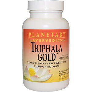 Планетари Хербалс, Ayurvedics, Triphala Gold, 1,000 mg, 120 Tablets отзывы покупателей