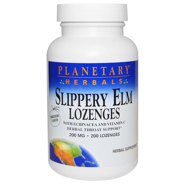 Planetary Herbals, Вяз красный, пастилки со вкусом мандарина, 200 мг, 200 пастилок (Discontinued Item)