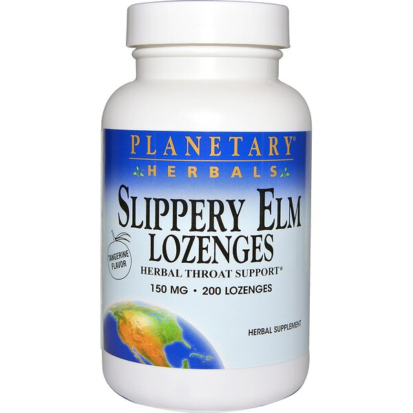 Slippery Elm Lozenges, Tangerine Flavor, 150 mg, 200 Lozenges