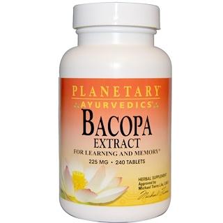 Planetary Herbals, Ayurvedics, Bacopa Extract, 225 mg, 240 Tablets