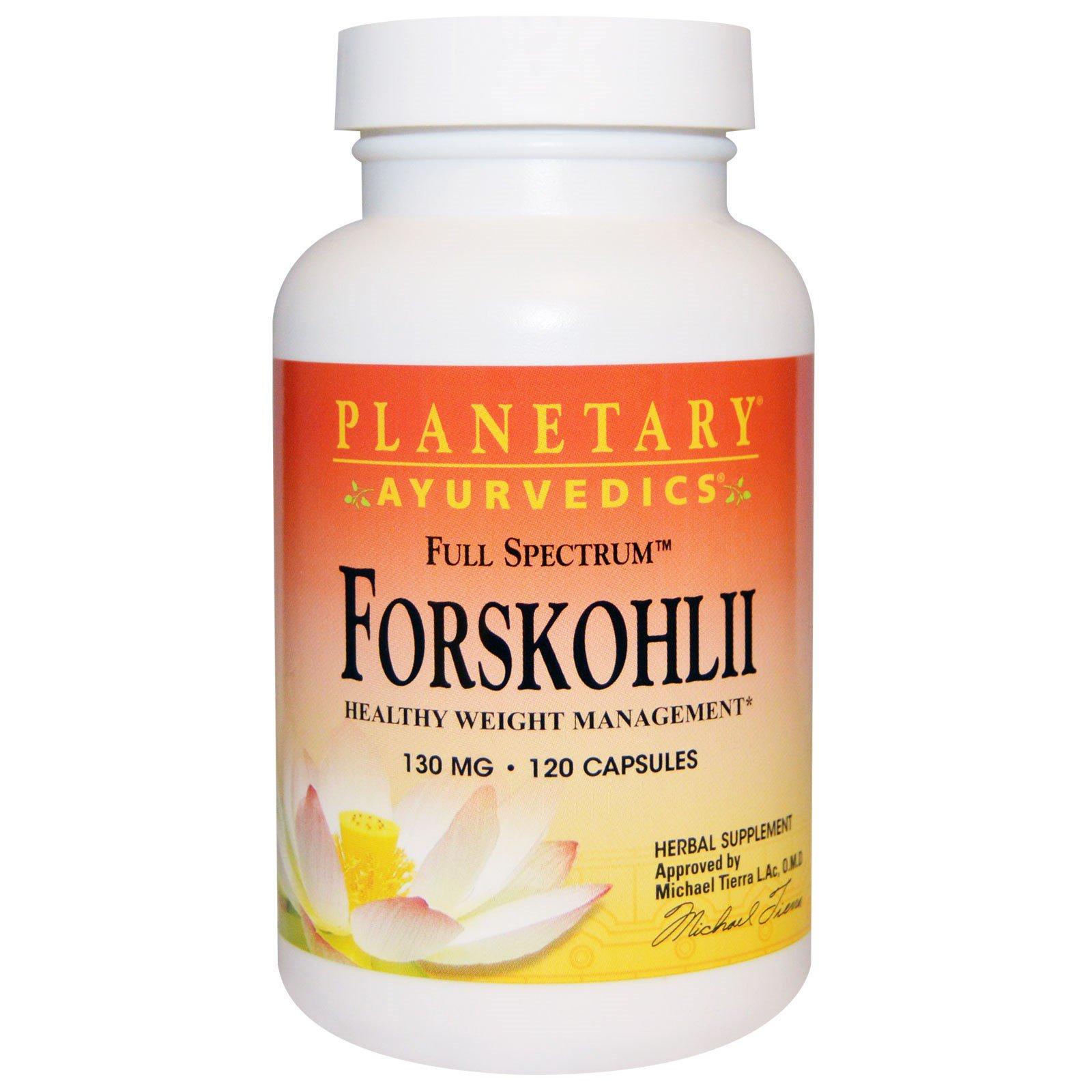 Planetary Herbals, Ayurvedics, полный спектр, колеус форсколии, 130 мг, 120 капсул
