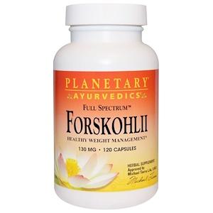 Планетари Хербалс, Ayurvedics, Full Spectrum, Forskohlii, 130 mg, 120 Capsules отзывы