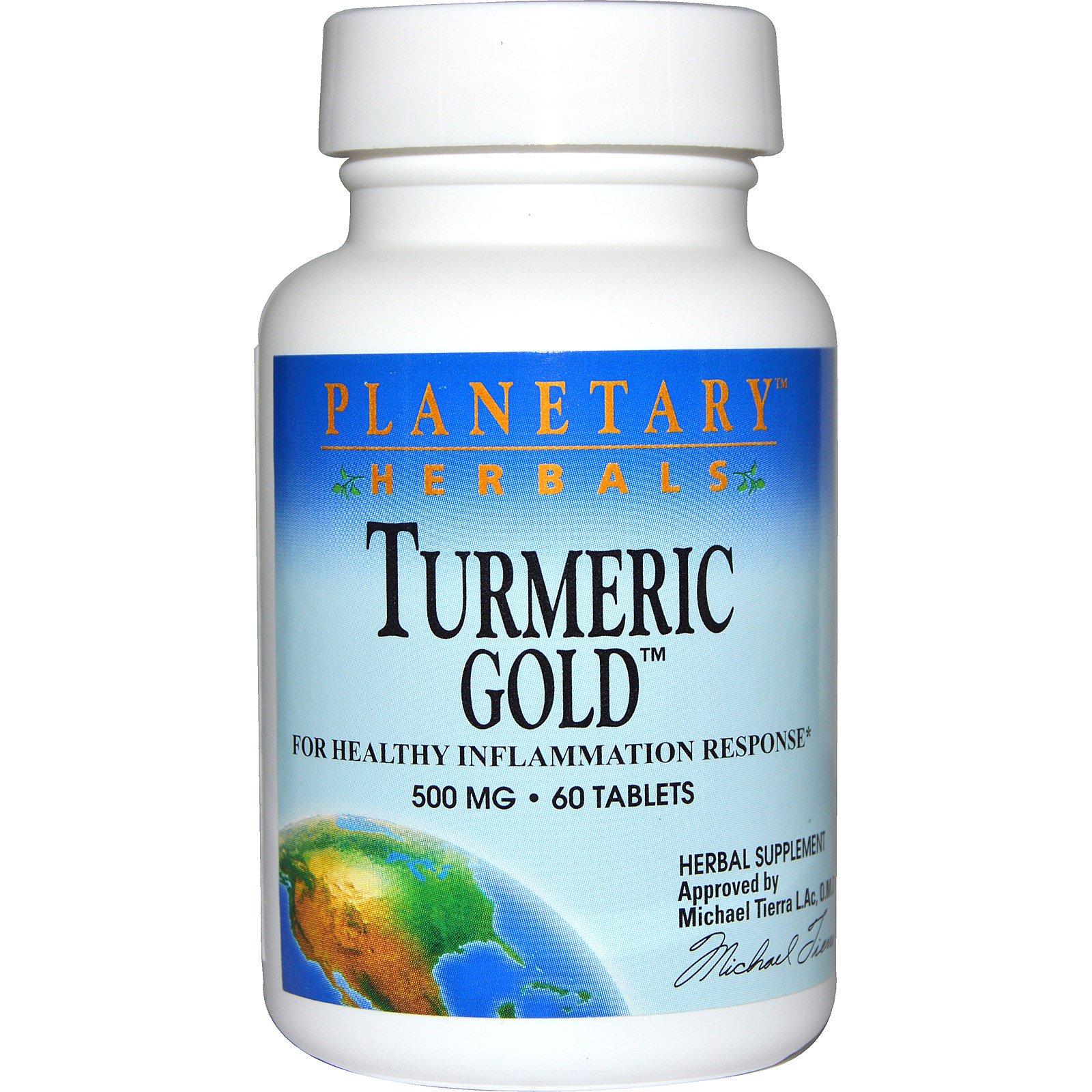 Planetary Herbals, Золотая куркума, 500 мг, 60 таблеток