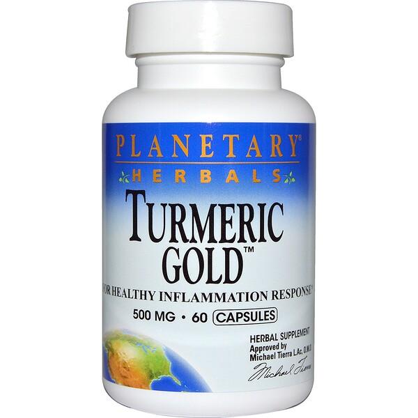 Planetary Herbals, Золотая куркума, 500 мг, 60 капсул (Discontinued Item)
