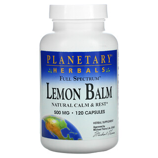 Planetary Herbals, Full Spectrum Lemon Balm, 500 mg, 120 Capsules