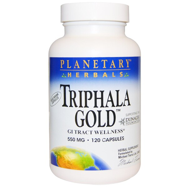 Planetary Herbals, Triphala Gold, GI Tract Wellness, 550 mg, 120 Capsules