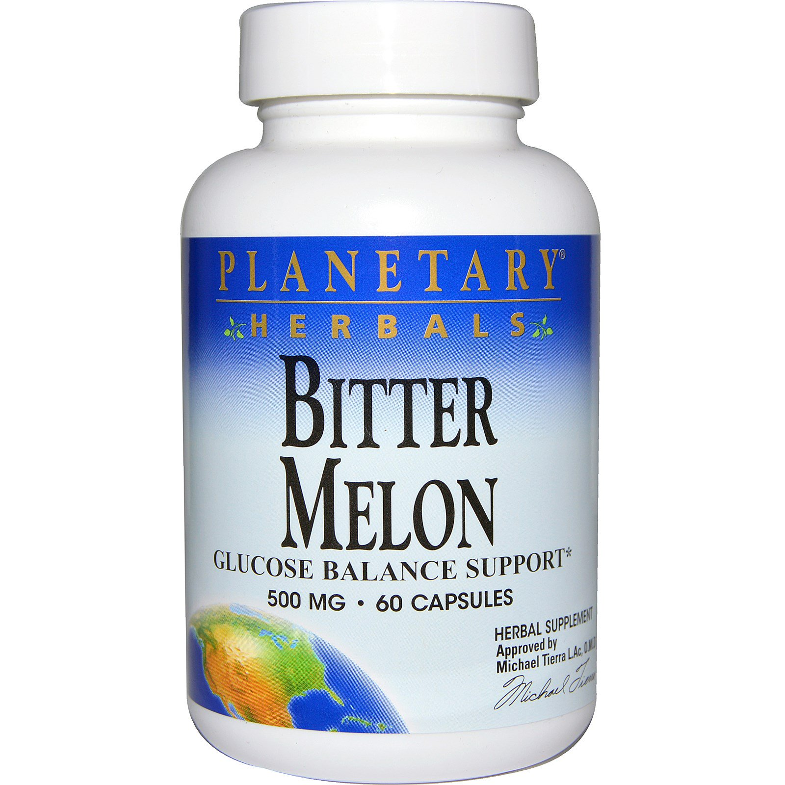 Planetary Herbals, Горькая дыня, поддержка баланса глюкозы, 500 мг, 60 капсул