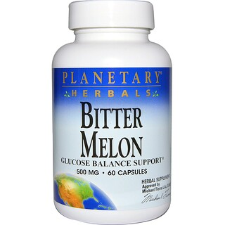 Planetary Herbals, Bitter Melon, Glucose Balance Support, 500 mg, 60 Capsules