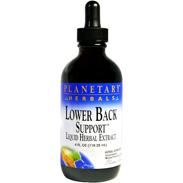 Planetary Herbals, Lower Back Support, 4 fl oz (118.28 ml) (Discontinued Item)