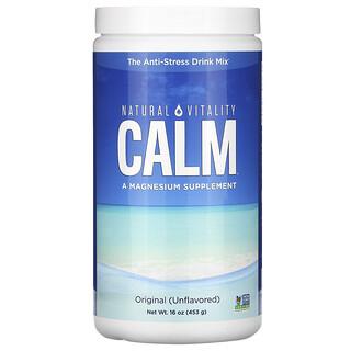 Natural Vitality, CALM, Mezcla para preparar bebidas antiestrés, Original (sin sabor), 453g (16oz)