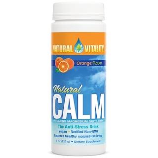 Natural Vitality, Естественное спокойствие, Антистрессовый напиток, Вкус апельсина, 8 унций (226 г)