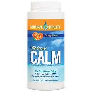 Natural Vitality, ナチュラルカーム(Natural Calm), アンチストレスドリンク, オーガニックオレンジ風味, 16オンス(453 g)