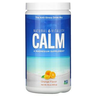 Natural Vitality, CALM, The Anti-Stress Drink Mix, Orange, 16 oz (453 g)
