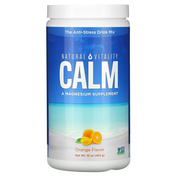 Natural Vitality, CALM, The Anti-Stress Drink Mix, Orange, 16 oz (453 g)