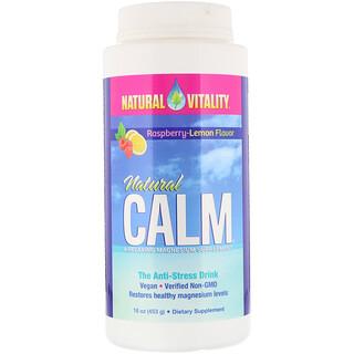 Natural Vitality, Natural Calm، مشروب مضاد للإجهاد، نكهة التوت-الليمون العضوي، 16 أونصة (453 جم)