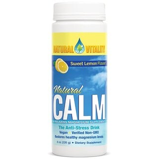 Natural Vitality, Natural Calm, The Anti-Stress Drink, Organic Sweet Lemon Flavor, 8 oz (226 g)