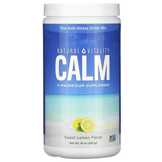 Natural Vitality, CALM, смесь для приготовления антистресс-напитка, сладкий лимон, 453г (16унций)