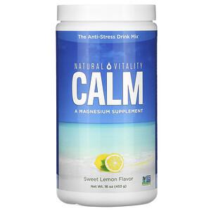 Натурал Виталити, CALM, The Anti-Stress Drink Mix,  Sweet Lemon Flavor, 16 oz (453 g) отзывы покупателей