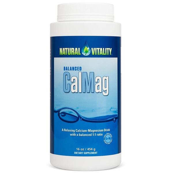Natural Vitality, Balanced CalMag, Original (Unflavored), 16 oz (454 g) (Discontinued Item)