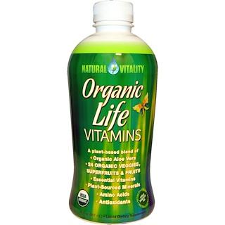 Natural Vitality, Organic Life Vitamins, Organic Raspberry-Cranberry Flavor, 30 fl oz (887 ml)