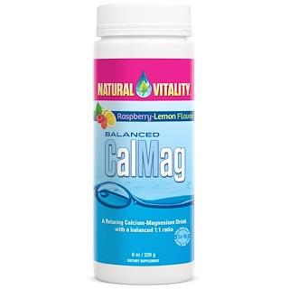 Natural Vitality, 균형잡힌 CalMag,  라즈베리-레몬 맛, 8 온스 (226g)