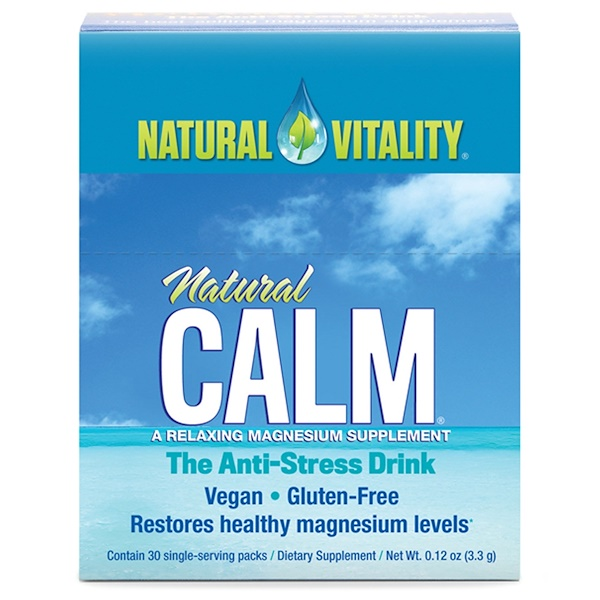 Natural Vitality, Natural Calm, The Anti-Stress Drink, Original (Unflavored), 30 Single-Serving Packs, 0.12 oz (3.3 g)