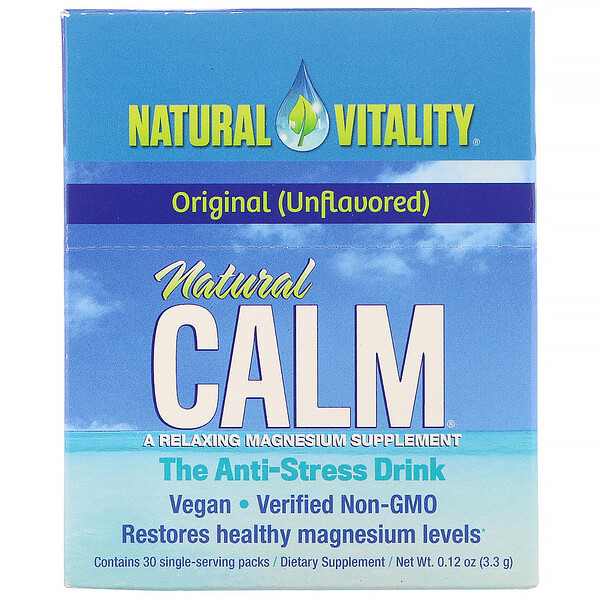 Natural Calm, The Anti-Stress Drink, Original, 30 Single-Serving Packs, 0.12 oz (3.3 g) Each
