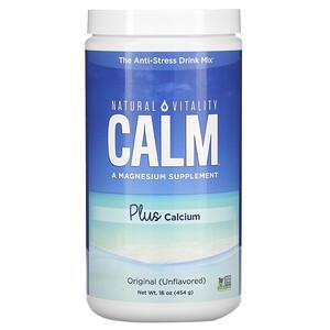 Натурал Виталити, CALM Plus Calcium, The Anti-Stress Drink Mix, Original (Unflavored), 16 oz (454 g) отзывы покупателей