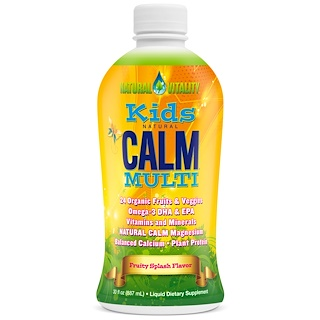 Natural Vitality, Kids Natural Calm Multi, Fruity Splash Flavor, 30 fl oz (887 ml)