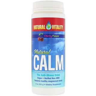 Natural Vitality, Natural Calm, The Anti-Stress Drink, Cherry Flavor, 8 oz (226 g)